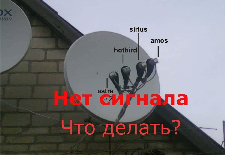 триколор нет сигнала от спутниковой антенны что делать
